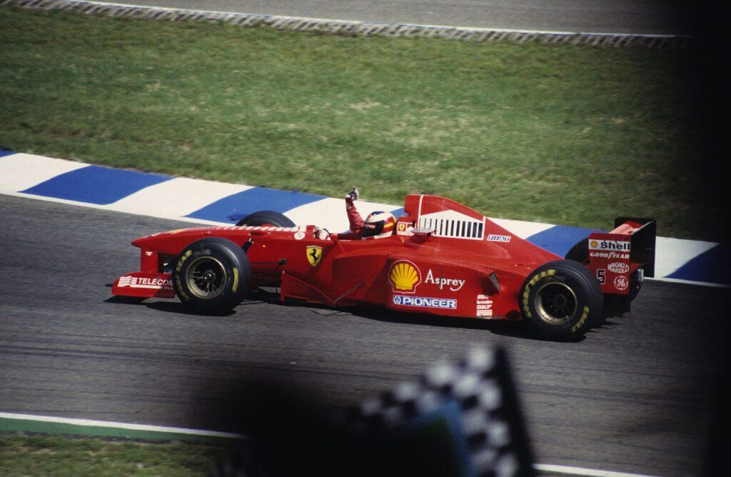 Michael Schumacher podczas GP Niemiec (1997)